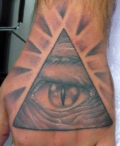 Pyramid with Eye Tattoo