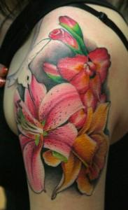 Realism Flower Tattoos