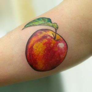 Realistic Apple Tattoo