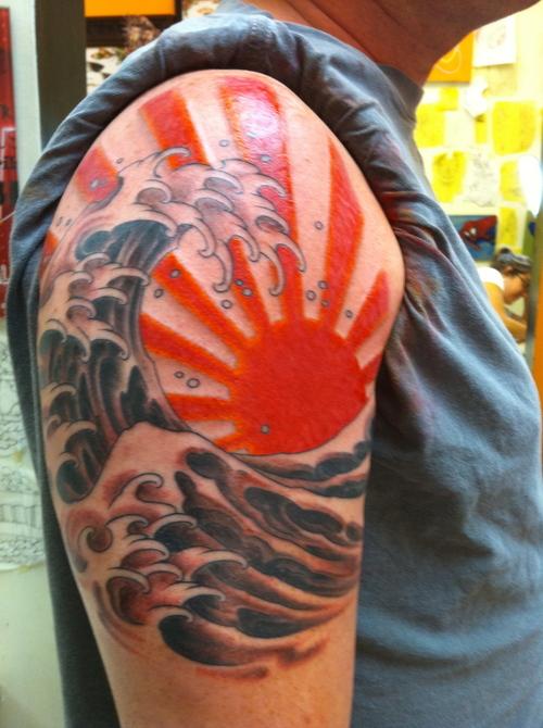 Rising Sun Tattoos Designs Ideas And Mraning Tattoos