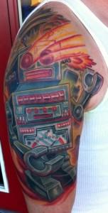 Robot Arm Tattoo Half Sleeve