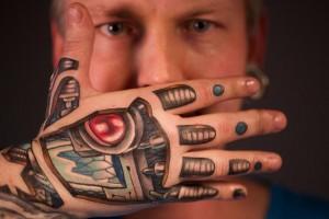 Robot Hand Tattoo