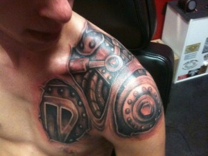 Robot Shoulder Tattoo