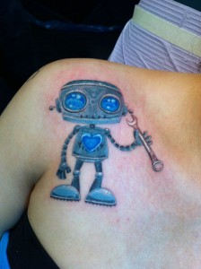 Robot Tattoo Chest