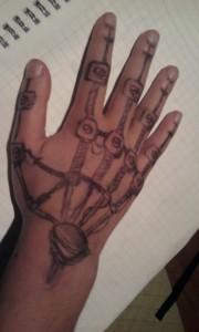 Robot Tattoo Hand