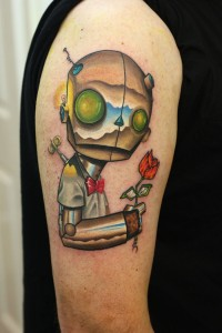 Robot Tattoo Images