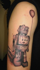 Robot Tattoo Pictures
