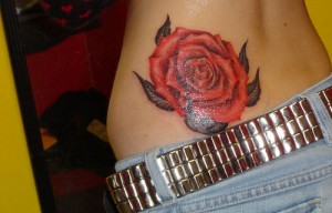 Rose Waist Tattoos