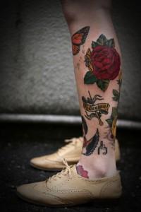 Shin Tattoos for Women