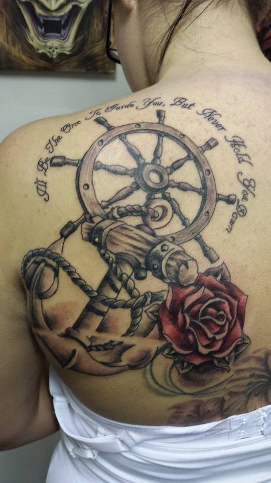 ship wheel tattoos designs ideas and meaning tattoos