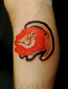 Simba Tattoo with Mane