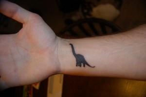 Simple Dinosaur Tattoo