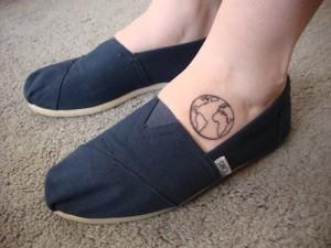 Simple Earth Tattoo