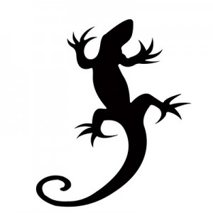 Simple Lizard Tattoos