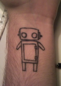 Simple Robot Tattoo