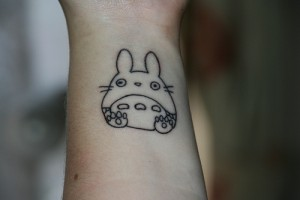 Simple Totoro Tattoo