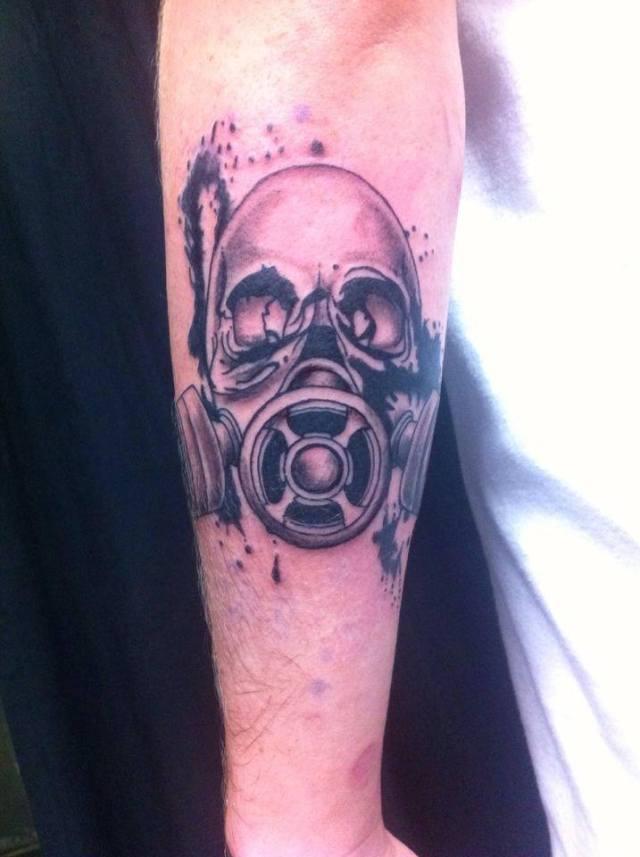 Skull Gas Mask Tattoo