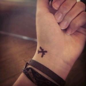 Small Airplane Tattoo