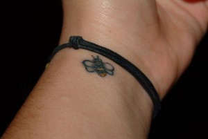 Small Bumble Bee Tattoo