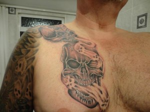 Smoke Tattoos on Chest