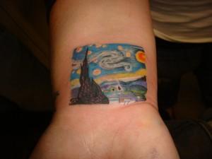 Starry Night Tattoo Small