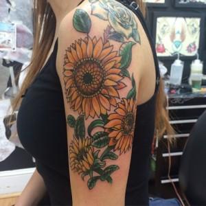 Sunflower Sleeve Tattoos