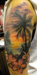 Sunset Sleeve Tattoos