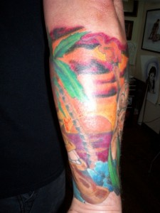 Sunset Tattoos Forearm