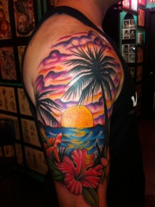 Sunset Tattoos Pictures