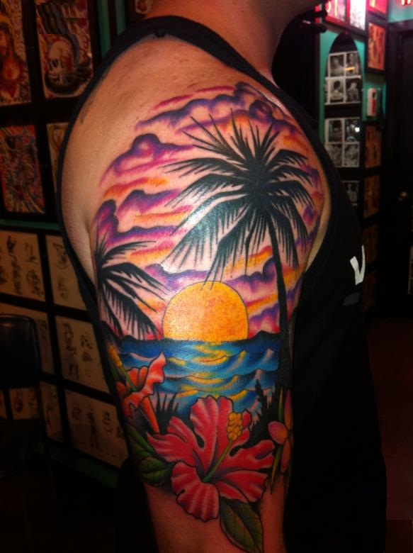 Sunset Tattoos Designs, Ideas and Meaning | Tattoos For You