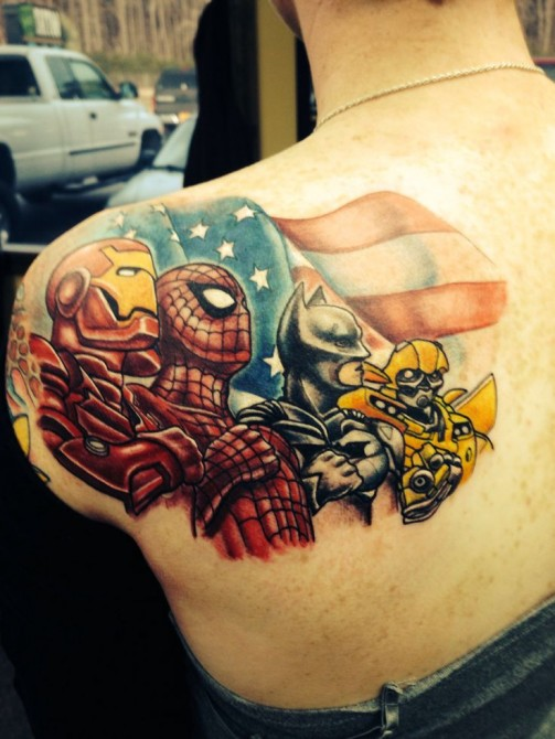 superhero tattoos designs  ideas and meaning
