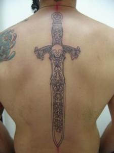 Sword Tattoo on Back