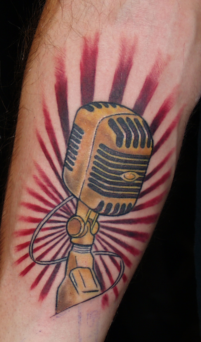 Microphone Tattoos Designs, Ideas And Meaning