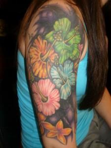 Tattoo Sleeve Flowers