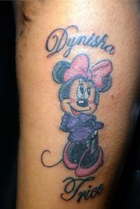 Tattooed Minnie Mouse