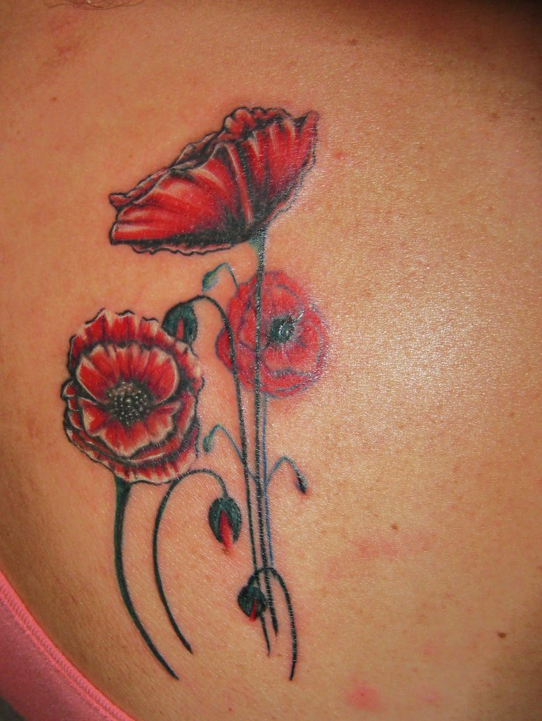 66615633316e9 Poppy Tattoos Designs, Ideas and Meaning | Tattoos For You