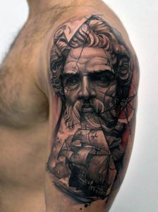Tattoos of Poseidon