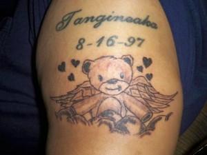 Teddy Bear Angel Tattoos