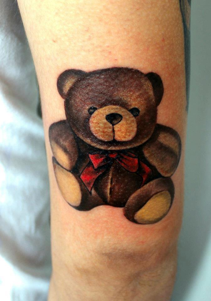 teddy bear tattoos designs ideas and meaning tattoos for you. Black Bedroom Furniture Sets. Home Design Ideas