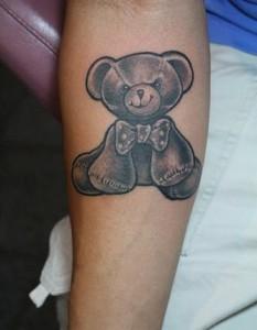 Teddy Bear Tattoos for Girls