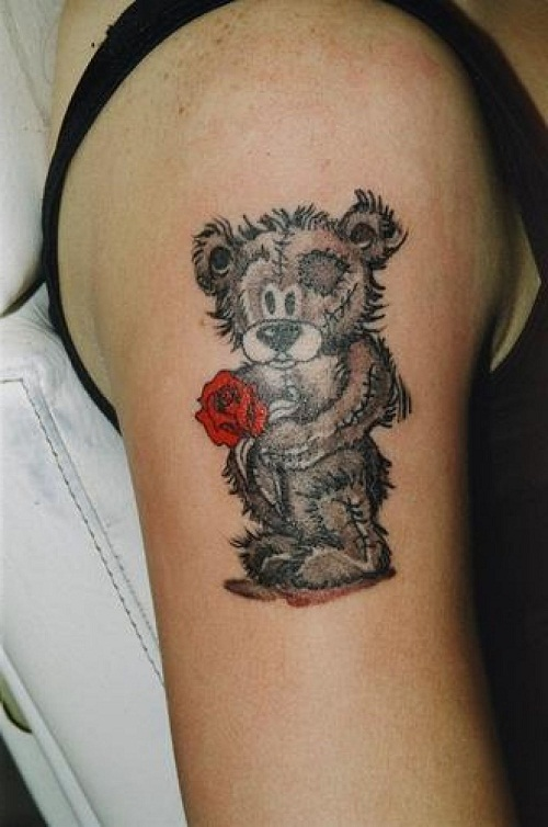 Stand Designs : Teddy bear tattoos designs ideas and meaning