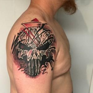 The Punisher Skull Tattoo
