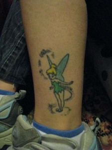 Tinkerbell Tattoo on Ankle