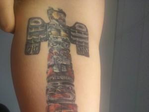 Totem Pole Eagle Tattoo