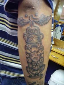 Totem Pole Tattoo Forearm