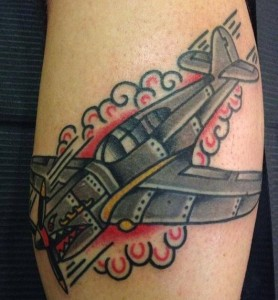 Traditional Airplane Tattoos