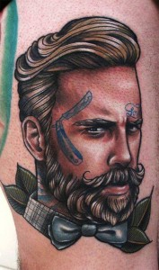 Traditional Barber Tattoos