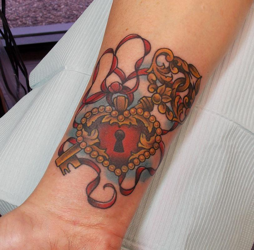 Key Tattoos Designs Ideas And Meaning: Heart Locket Tattoos Designs, Ideas And Meaning
