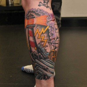 Traditional Leg Sleeve Tattoos