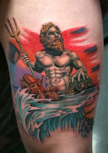 Traditional Poseidon Tattoo